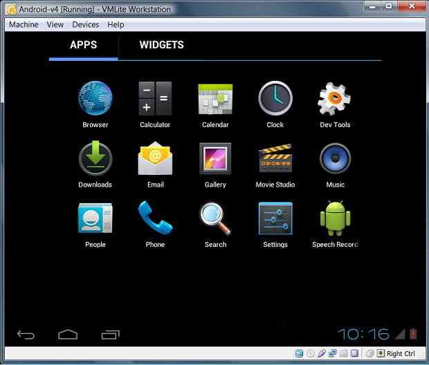 Android sendo executado no VirtualBox (Foto: Reprodução/VMLite)
