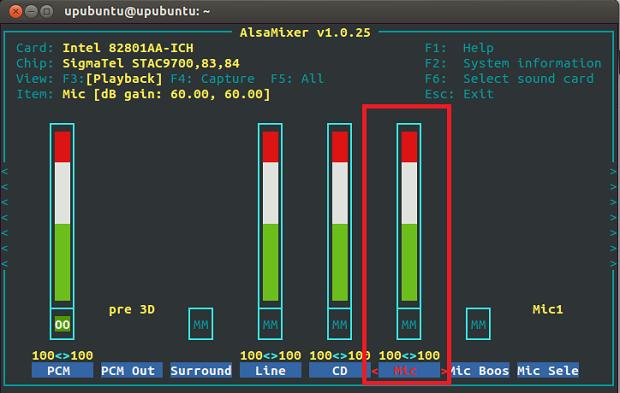 Como gravar áudio a partir do microfone no Ubuntu