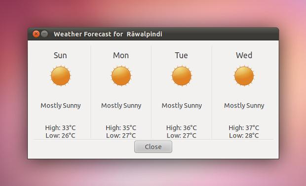 Instale o indicador de clima com correções no Ubuntu 13.04, 12.10 e 12.04