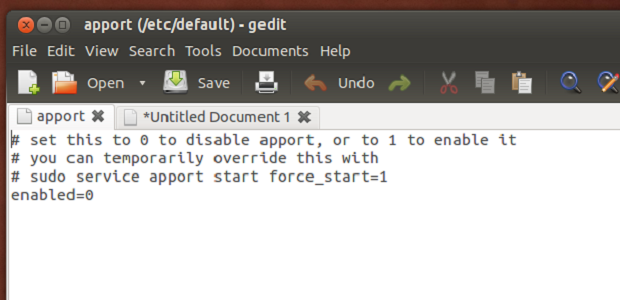 disable-ubuntu 1304-has experienced-an internal-error-message