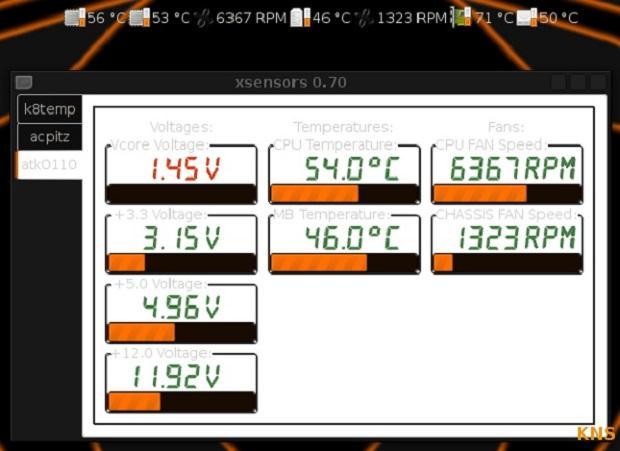 Monitorando a temperatura das CPU com XSensors no Ubuntu
