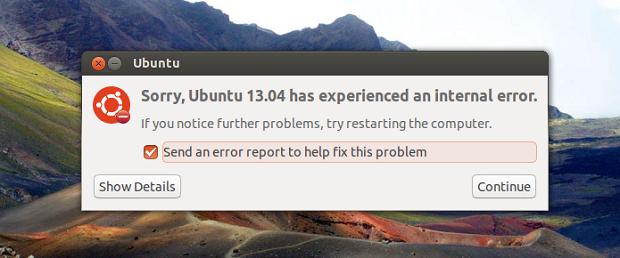 Dicas de coisas para fazer depois de instalar o Ubuntu 13.04 parte 29 – Desativar mensagens de erro desnecessárias