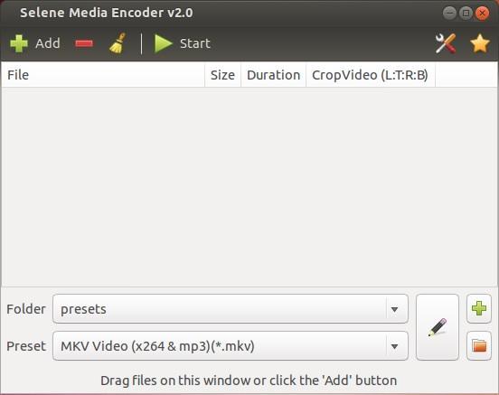Instale o Selene Media Encoder – um conversor de áudio / vídeo