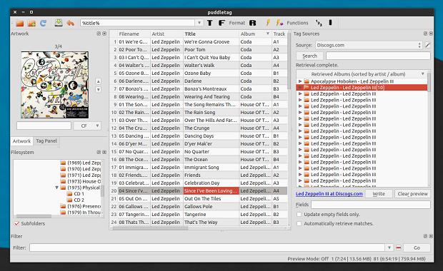Lançado RC1 do editor de tags de áudio PuddleTag 1.0.2 – Instale e experimente