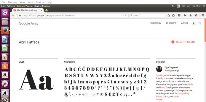 Como instalar fontes Web do Google no Ubuntu com TypeCatcher