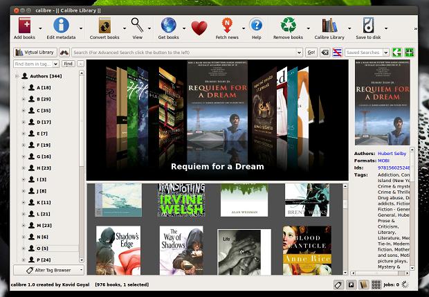 Instale a nova versão do gerenciador de e-books: Calibre 1.0