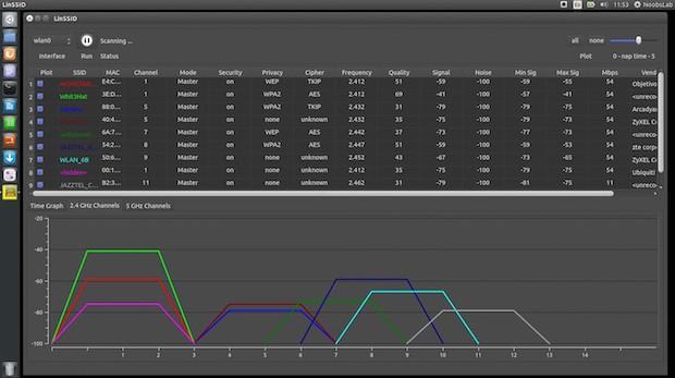 Instale LinSSID: um scanner de redes wireless para Linux com interface gráfica