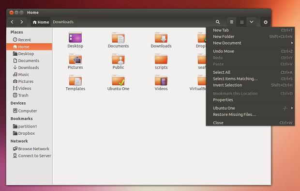 Instale e experimente – Atualização dos temas Ambiance e Radiance adicionam barra de ferramentas escura no Nautilus e outros programas