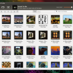 Instale o Coverart Browser plugin e transforme o Rhythmbox em novo player
