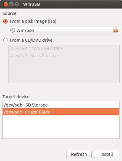 Instale o WinUSB no Ubuntu e crie uma mídia USB bootável do Windows no Linux