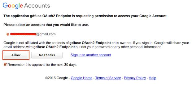 Monte Google Drive no Linux com o google-drive-ocamlfuse