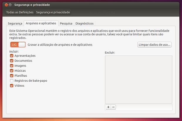 Dicas de coisas para fazer depois da instalação do Ubuntu 13.10 – Fazendo ajustes de privacidade
