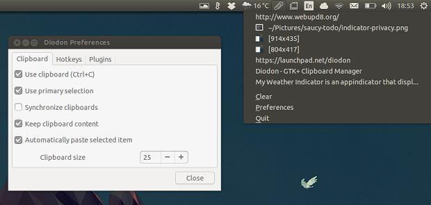 Como instalar o gerenciador de área de transferência Diodon no Ubuntu