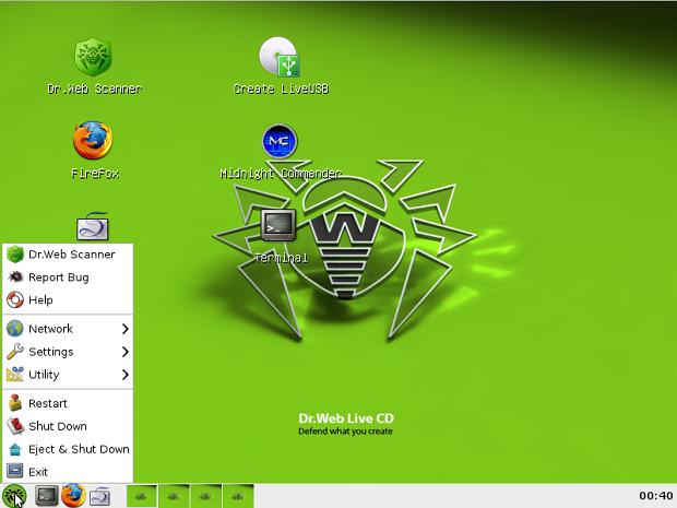 Conhecendo distribuições interessantes que podem ser úteis - Dr. Web Antivirus