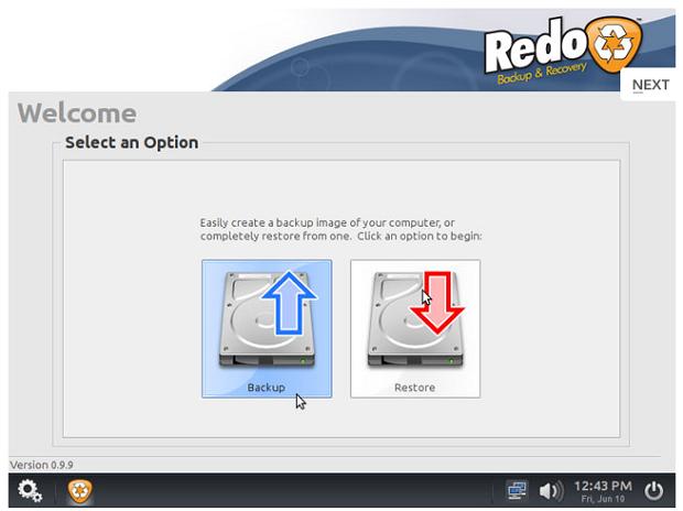 Conhecendo a distribuição Redo Backup and Recovery