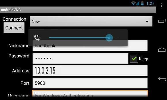 usando um dispositivo com Android