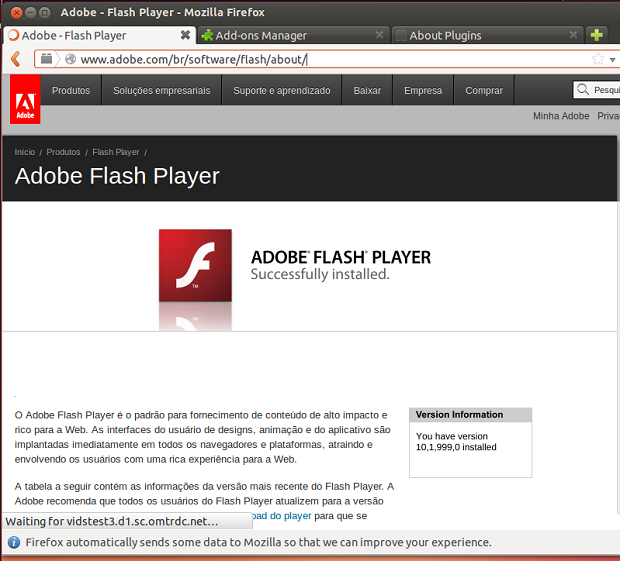 Como instalar o Adobe Flash Player Projector no Linux via Flatpak