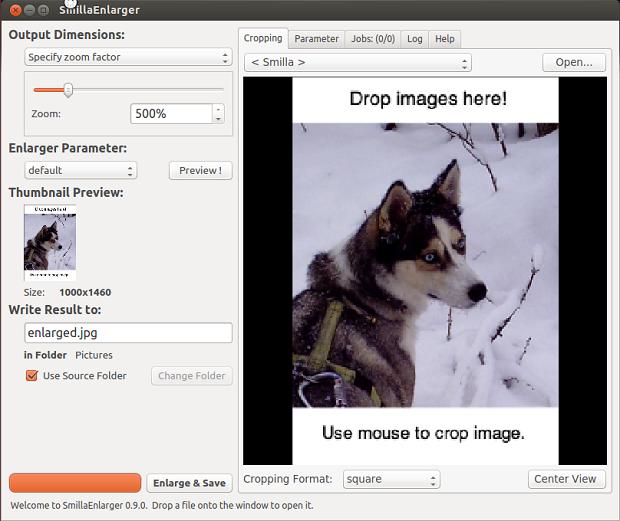 SmillaEnlarger - uma ferramenta gráfica para redimensionar imagens