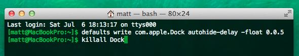Mexendo nas configurações ocultas para ajustar animações da dock do macOS