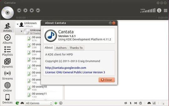 Como instalar o cliente MPD Cantata no Ubuntu e derivados