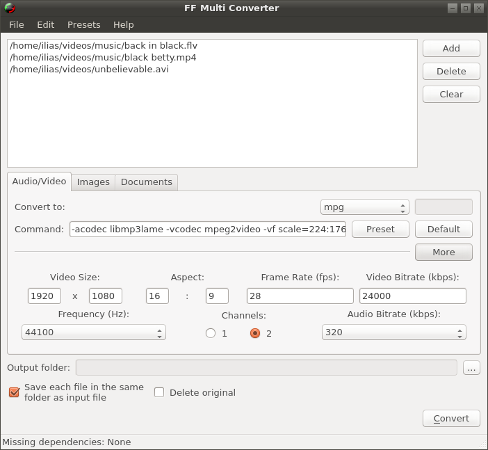 ffmulticonverter1.5.0-screen1