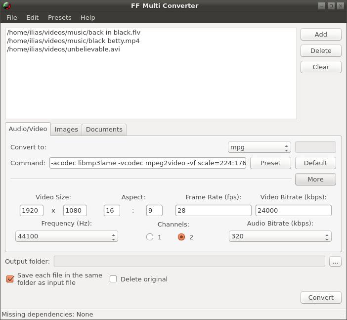 ffmulticonverter1.5.0-screen1