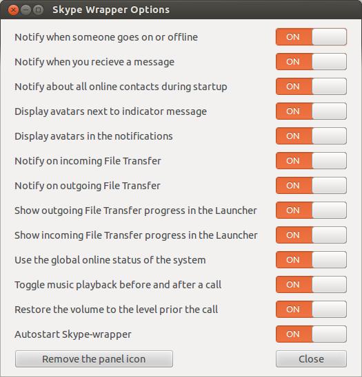 skype-wrapper-configuraçoes