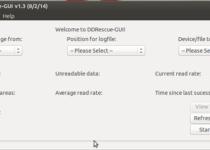 Ferramenta de recuperação de dados: Instale DDRescue-GUI no Ubuntu e derivados