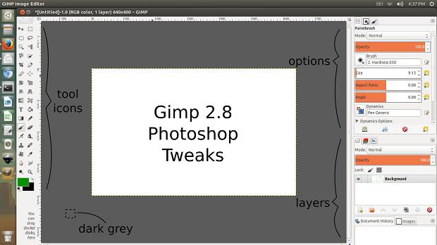 Como deixar o GIMP parecido com o Photoshop