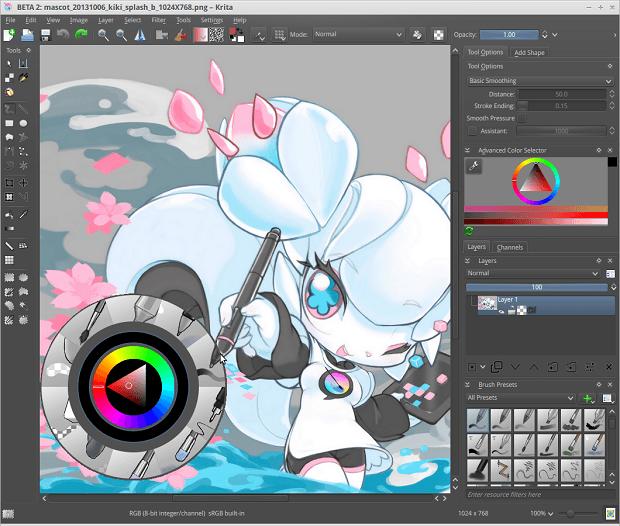Desenho e pintura no PC: Instale o Krita no Ubuntu