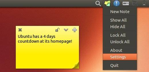 Instale Sticky Notes Indicator no Ubuntu