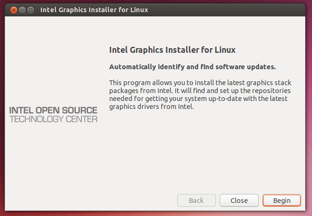 intel graphics no ubuntu