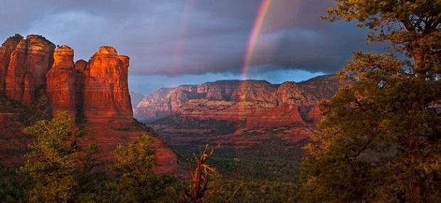 Baixe e deixe seu desktop mais bonito - papeis de parede de paisagens com arco-íris
