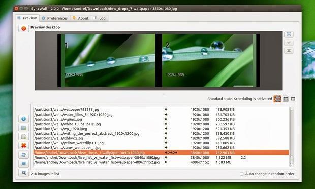 Como instalar o alternador de papel de parede SyncWall no Ubuntu