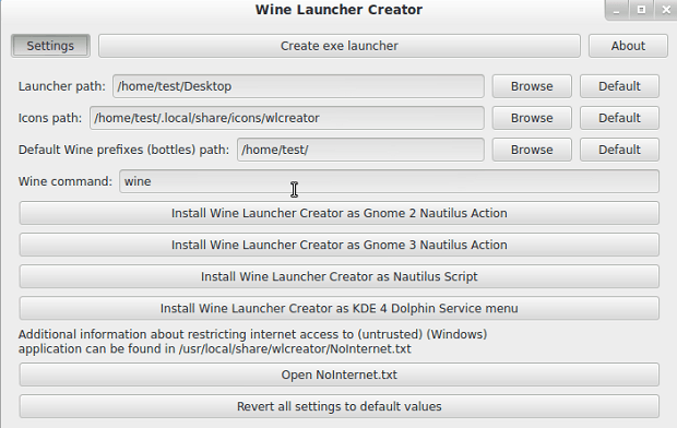 WLCreator ajuda a criar um lançador para programas do Windows no desktop Linux
