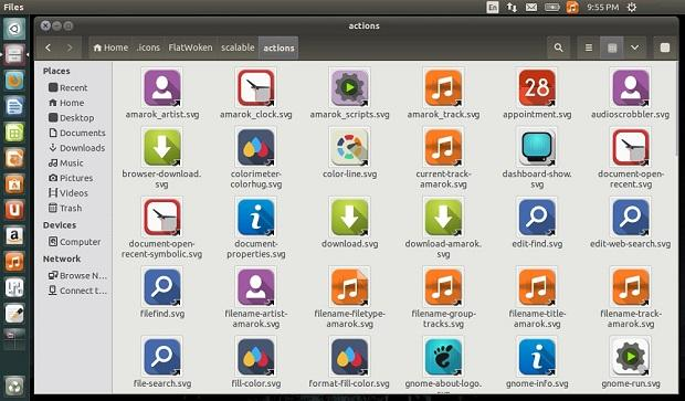 Instale o FlatWoken icons no Ubuntu e derivados e derivados
