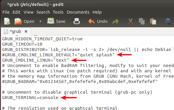Como configurar o Ubuntu para inicializar diretamente em modo texto