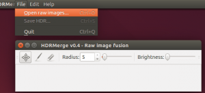 Instale o HDRMerge e crie imagens HDR (Raw Exposure Merging) no Ubuntu