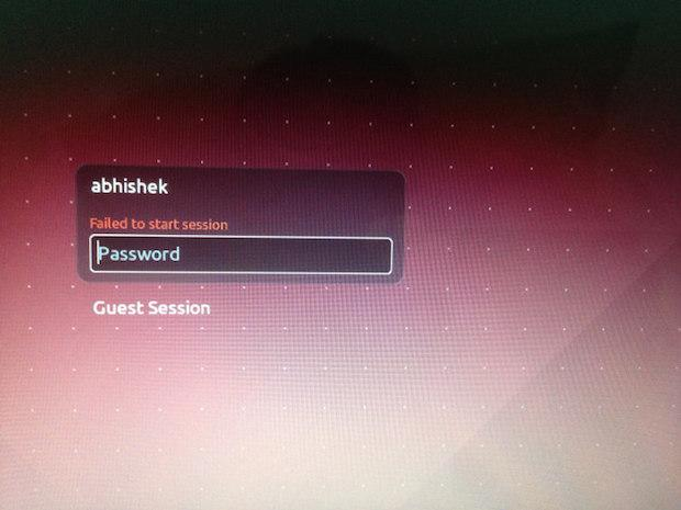 "Como consertar o erro ""Failed To Start Session"" no Login no Ubuntu"