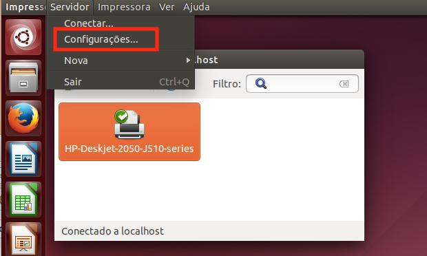 compartilhar uma impressora no Ubuntu