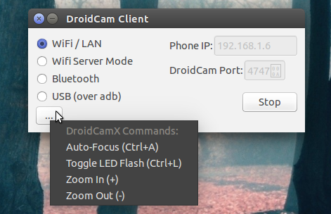 Instale DroidCam e use um dispositivo Android como webcam