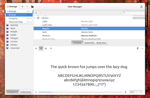font-manager-gshell