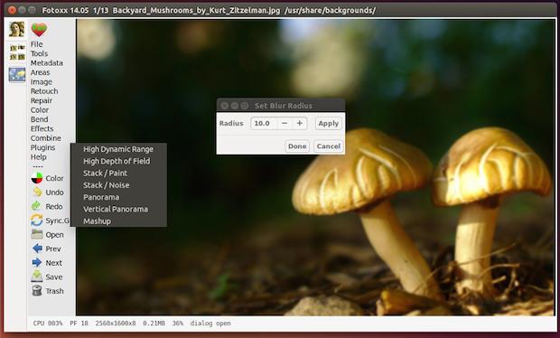 Instale o editor de imagens Fotoxx no Ubuntu, Debian e derivados