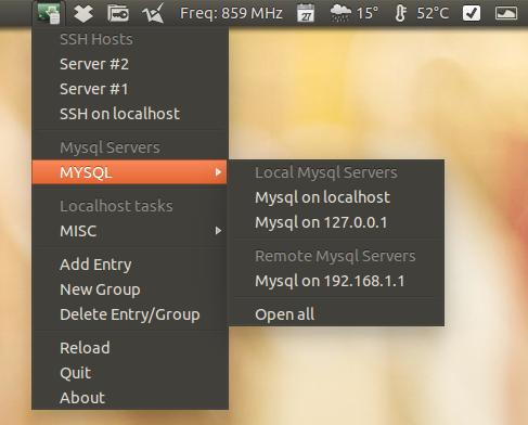 Conecte e gerencie servidores SSH e MySQL com o Guake Indicator