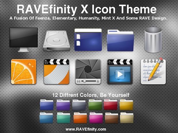 Instale os ícones Ravefinity-X no Ubuntu