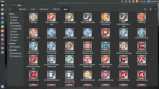 Instale os conjuntos de ícones Ardis e Ursa no Ubuntu