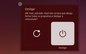 Como remover a caixa de diálogo de confirmação de desligamento no Ubuntu