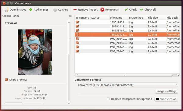 Como instalar a versão mais recente do conversor de imagens Converseen