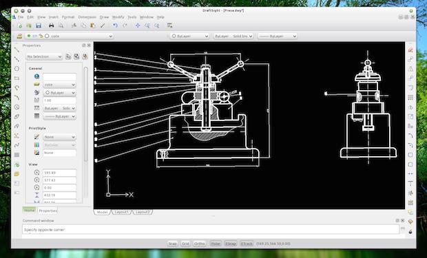 desenho técnico de CAD