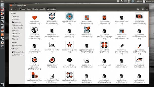 Instale o conjunto de ícones Elemint no Ubuntu